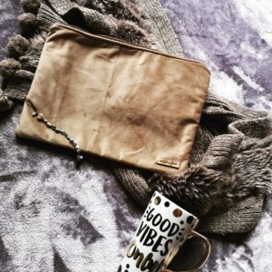 Brown Velvet Pouch