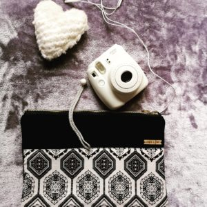 Black And White Pattern Pouch