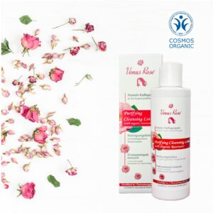 Rose Purifying Cleansing Lotion with organic rosewater 200ml